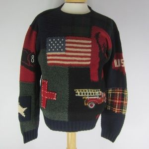 Polo Ralph Lauren Mens M Rare 911 Tribute Sweater